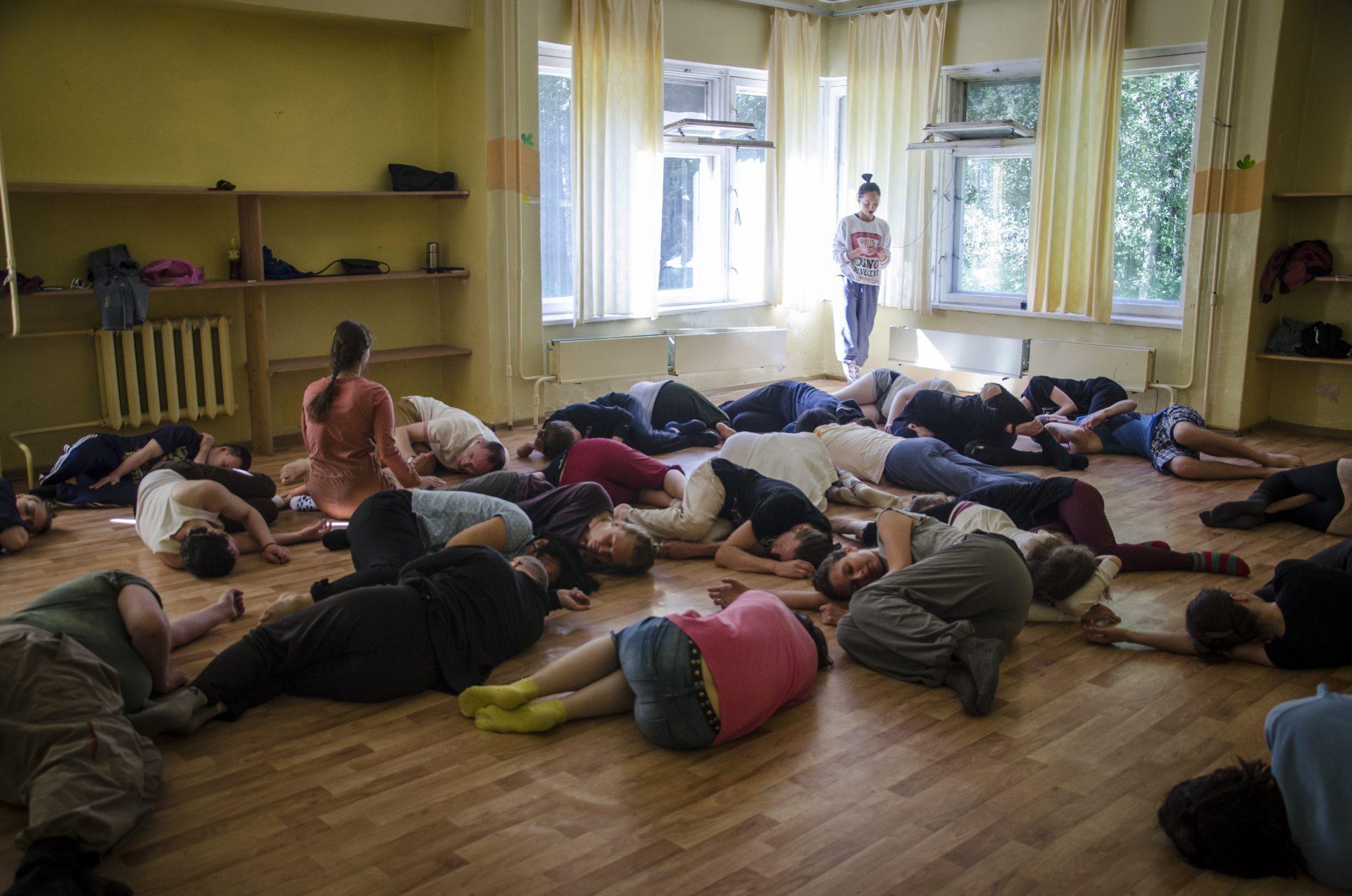 Театральный лагерь. Репетиция