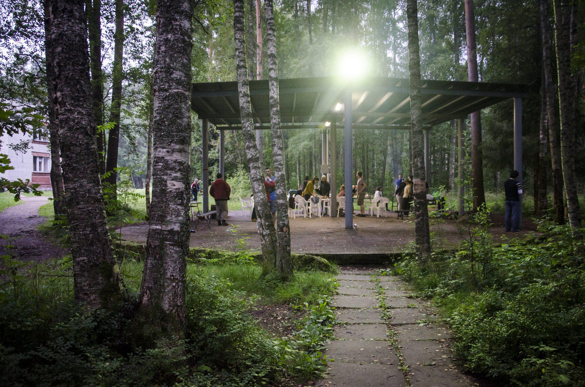 Театральный лагерь. Сцена